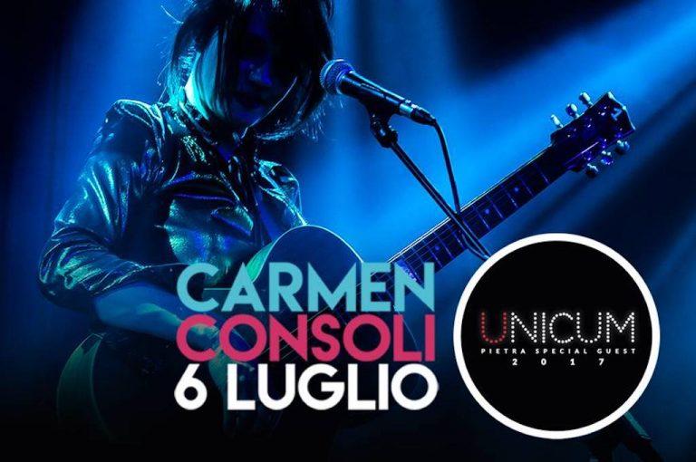 Carmen Consoli a Pietra Ligure: una big della musica italiana in concerto in Piazza San Nicolò